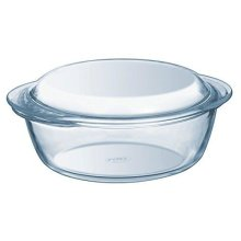 Pyrex Essentials Glass round Casserole High resistance 1.1 L (+ 0.3L Lid)