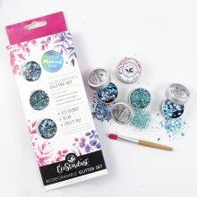 EcoStardust Mermaid Biodegradable Trio-Glitter, Balm, Brush Set
