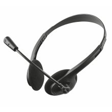Trust 21517 Ziva Chat PC Headset with Microphone for Computer and Laptop, Black