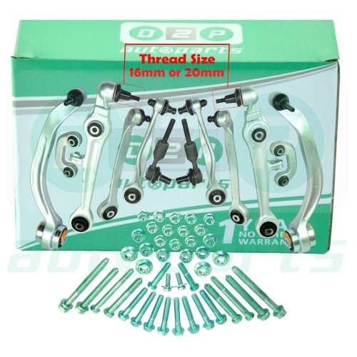 AUDI A4 (B5) A6 (C5) FRONT SUSPENSION WISHBONE TRACK CONTROL ARMS COMPLETE KIT