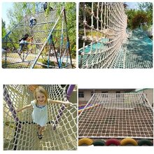 WJC Outdoor Kids Climbing Protection Safety Netting Balcony Railing Stair Fence Anti-fall Net Heavy Duty Thick Rope 12mm Child Playground Swing Ladd