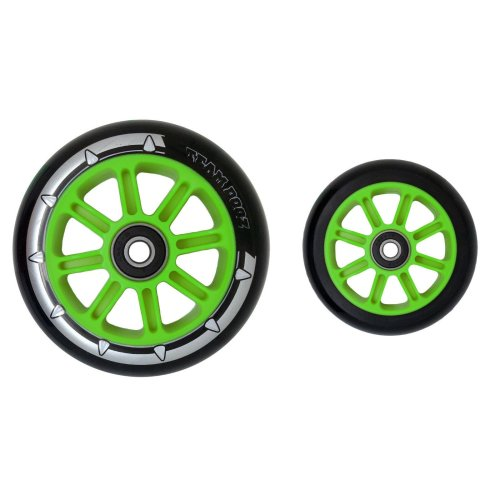 Pair Black & Green Pro Nylon Core Scooter Wheels Team Dogz 88a
