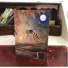The Amber Journey Greetings card by Hannah Willow