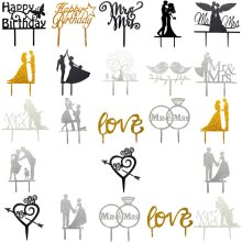 Cake Toppers & Decorations In Various Designs Weddings Birthdays Marriage