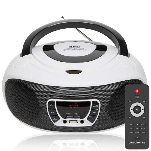 Grouptronics GTCDR-501 BoomBox CD Player With Remote Control, Radio, USB, MP3 & AUX IN