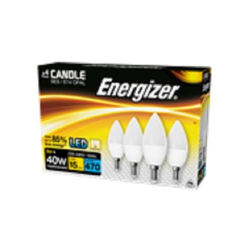 Energizer 6w=40w LED Candle SES=Small Screw 470 lms