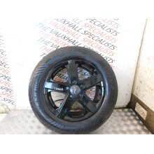 MERCEDES BENZ VITO 03-14 SINGLE ALLOY WHEEL + TYRE BLACK 205-65-16C *SCRATCHES* - Used