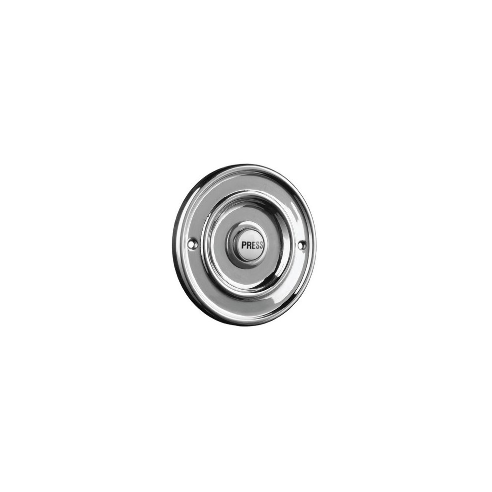 Brushed Nickel Byron Wired Flush Fitting Bell Push