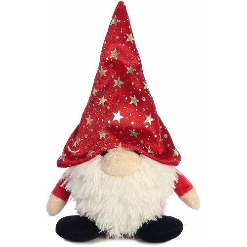 The Gnomlins Fantasy Gnome Plush Red Stars