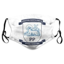 Preston North End Football Team Face Masks for Adult Youth Reusable