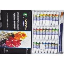 Maries Gouache Colours Artist Paints Set of (24) + 2 Free Paint Brushes