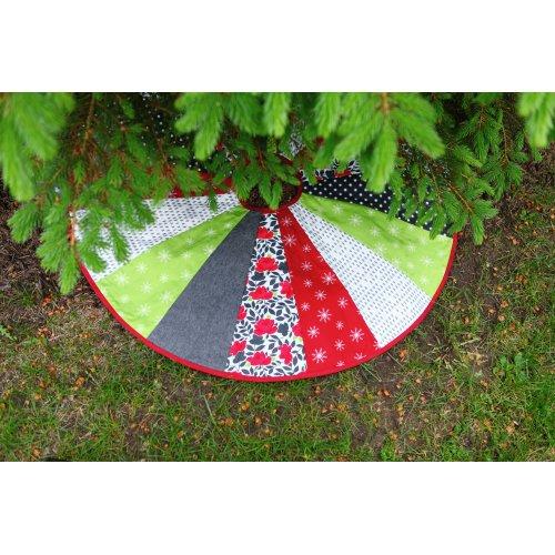 """June Tailor Quilt As You Go Tree Skirt-Pattern 40"""" Diameter 1/Pkg"""
