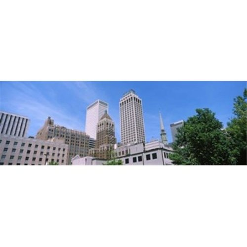 Low angle view of downtown buildings  Tulsa  Oklahoma  USA Poster Print by  - 36 x 12