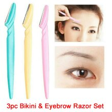 3x Razor Set - Bikini & Eyebrow Razor Set
