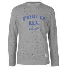 ONeill Mens Laid Back Crew Sweater Jumper Pullover Long Sleeve Neck