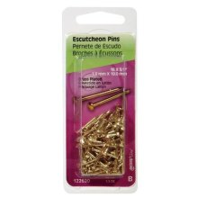 Hillman 5123542 0.75 in. Escutcheon Brass Plated Pins