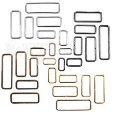 10 pcs - Metal wire rectangle ring Belt Bag Loops