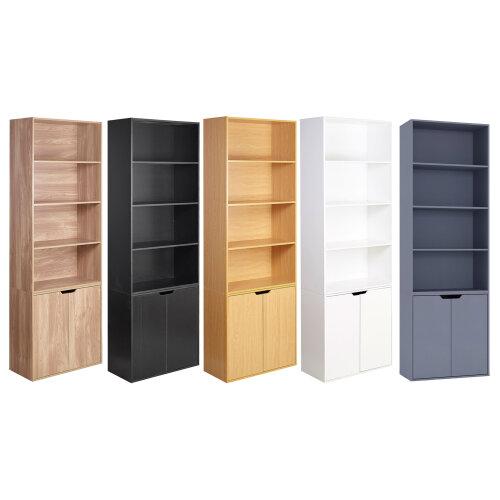 6 Tier With 2 Door | Bookcase Set