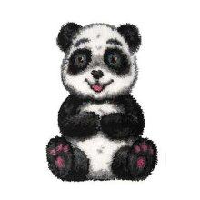"""Latch Hook Kit """"Panda"""" 63x45cm"""