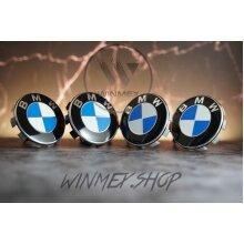 Set of 4 BMW alloy wheel centre caps 68mm