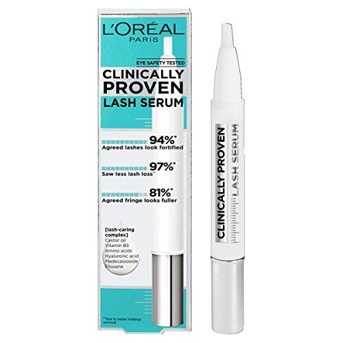 L'Oreal Paris Clinically Proven Lash Serum for Stronger, Thicker-looking lashes with Castor Oil and Hyaluronic Acid