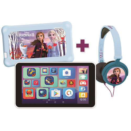 """LexiTab Master 7"""" Kids Tablet with Disney Frozen II Case & Headphones"""