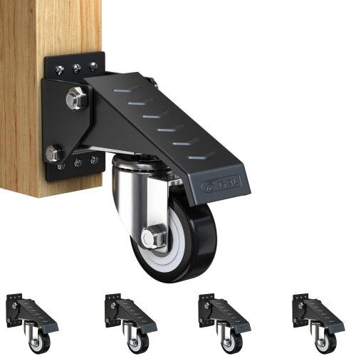 Retractable WorkBench Heavy Duty Swivel Castor Wheels Casters Rubber