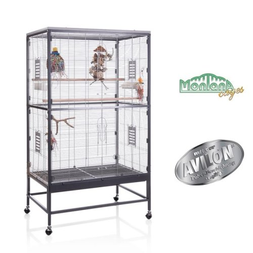 Indoor Aviary for Parakeets and Other Birds Wheels Retractable Floor