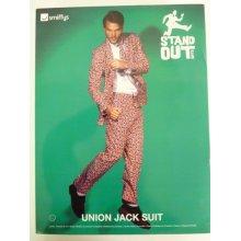 Extra Large Men's Union Jack Suit -  mens stand out suit fancy dress union jack stag party new tie suits costume do adult outfit