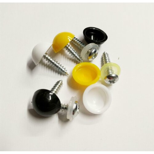 Mix Replacement Number Plate Fitting Kit Screws Caps Cover
