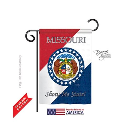 Breeze Decor 58129 States Missouri 2-Sided Impression Garden Flag - 13 x 18.5 in.