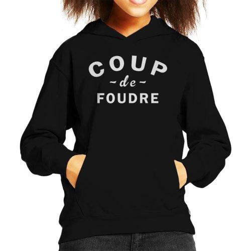 (Large (9-11 yrs)) Coup De Foudre Kid's Hooded Sweatshirt