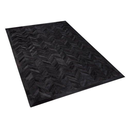 Cowhide Area Rug 160 x 230 cm Black BELEVI