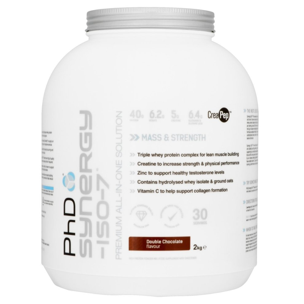 (Double Chocolate, 2kg) Phd Nutrition Synergy Iso-7