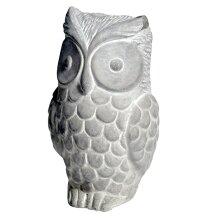 Deko Grey Cement Owl Free Standing Statue Home Ornament Decoration