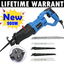 Cordled Electric Reciprocating Saw 5 Blades Wood Metal Cutting Recip Hand Held