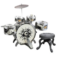 The Magic Toy Shop Kids Drum Kit & Stool | Mini Drum Kit