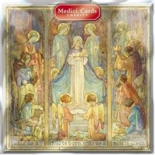 Medici Charity Christmas Cards - Unto Us a Child is Born (0122) - Pack of 8 Cards Sold In Aid of Marie Curie Cancer Care, Parkinsons, Oxfam, CLIC...