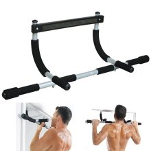 CHIN UP PULL UP BAR FITNESS EXERCISE HOME DOOR SIT BODY WORKOUT