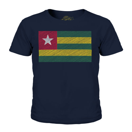 Candymix - Togo Scribble Flag - Unisex Kid's T-Shirt