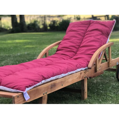 Sun Lounger Topper Cushion Pad | 60cm x 190cm - Wine