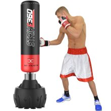 6ft Strike 360 Free Standing Boxing Punch Bag Stand Kick Heavy MMA Martial Art
