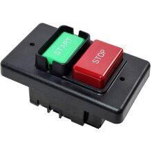 HQRP On/Off Switch compatible with Jet 994542 fits Table Saw, Router Table, Drill Press, Bench Saw 110/220 Volt [UL Listed] + Coaster