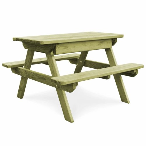 vidaXL Outdoor Picnic Table Bench   Pinewood Camping Set