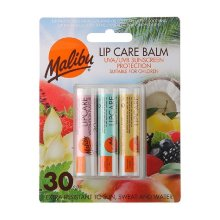 Malibu Lip Care Balm SPF30 Watermelon/Mint/Vanilla 3x4g