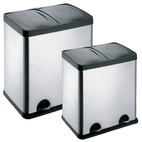 (48L (2 x 24L)) 48-60L  2 Compartments Pedal Recycling Waste Bins