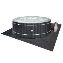 Happy Hot Tubs Interlocking EVA Floor Mat Base Surround Floor Protector Hot Tub
