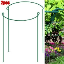 Plant Support Stake Half Round Metal Garden Plant Support Ring Border Tool