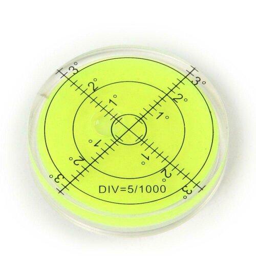 Bullseye Precision Spirit Level Large Round Circular Bubble Vial 65mm Caravan