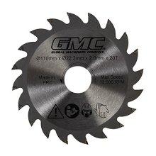 Gmc Tct Saw Blade Gts1500 Tct Saw Blade 110 x 22.2 x 20t - Tct Saw Blade x -  tct saw blade x gts1500 gmc 110 222 20t 776182